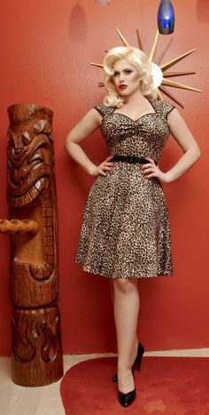 @Kim Wallace-Collins- Leopard!! New Style Heidi Dress in Leopard by Pinup Couture