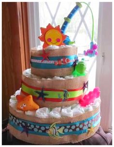 fish themed diaper cake shower babybaby