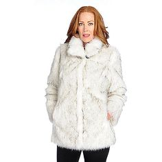 729-935 - Pamela McCoy Faux Fur Long Sleeve Stand Collar Hook Front Coat. Make sure to use promo code 15FEST at checkout for an additional 15% off. Offer expires December 1st at 10:59pm ET!