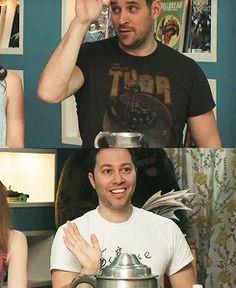 Travis and Sam's high five - #CriticalRole
