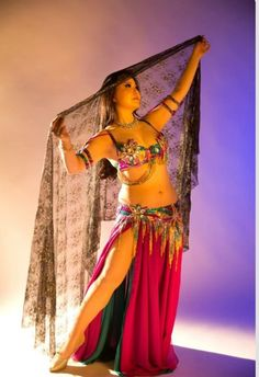 B Dancers Pose Belly Dance Outfit Costumes