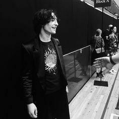 Ezra Miller attends London Fashion Week Men's June 2017 collections on June 12, 2017 in London, England. . . He look young in this picture