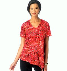 Misses Pullover Tops Pattern Shaped Hemline Top Pattern by blue510