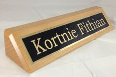 Desk Wedge Name Plate    $ 25.99 Laser Engraved Gifts, Corporate Awards, Client Gifts, My Dad, Laser Engraving, Wedge, Dads, Plate, Platform