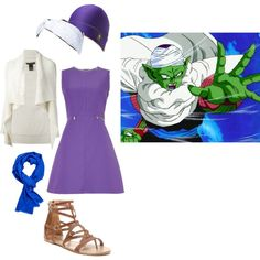 Dragon Ball Z: Piccolo Girly Clothes by lucy-wolf on Polyvore featuring Sportmax, Ralph Lauren Black Label, Columbia, Bucco and Gold Saturn