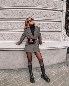 Early Fall Outfits, Winter Fashion Outfits, Autumn Winter Fashion, Cute Casual Outfits, Stylish Outfits, Book Modelo, Outfit Chic, High Street Fashion, Look Blazer
