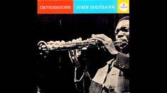 """Dans ma discothèque, au-dessus de la pile, il y a le """"Kind Of Blue"""" de Miles Davis, usé jusqu'à la corde, et puis deux autres rondelles que je me refuse à départager et qui, elles aussi, en ont marre de tourner. C'est le """"Maiden Voyage"""" de Hancock et ceci... ○ Impressions de John Coltrane ○  John Coltrane - saxophone Elvin Jones - drums McCoy Tyner - piano Jimmy Garrison - basse ◘ Le jazz est la """"grande musique"""" du XXème siècle... ◘"""
