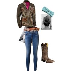 A fashion look from January 2014 featuring zip jeans, western boots and brown jacket. Browse and shop related looks. Ashley Clothes, Country Strong, Country Girls, Outfit Ideas, Comfy, My Style, Womens Fashion, Stuff To Buy, Outfits
