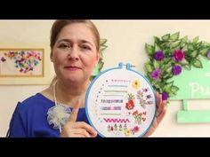 Bordado en cinta para principiantes 03 - Embroidered ribbons for beginners - YouTube
