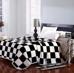 Chess Black & White Throw/Blanket.  http://www.fierceheelsemporium.com.au/collections/bed-throws-blankets/products/chess-black-white-throw-blanket