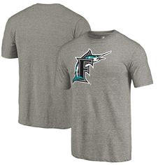 Miami Marlins Fanatics Branded Cooperstown Collection Forbes Tri-Blend T-Shirt - Ash