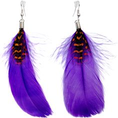 Perfect in Purple Feather Earrings | Body Candy Body Jewelry