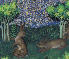 hare family Gaston Phoebus, Le Livre de la chasse, Paris ca. 1407. NY, Morgan, MS M. 1044, fol. 15v