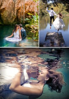 La sesión de fotos de vestidos de novia trash the dress puede ser realizada en…