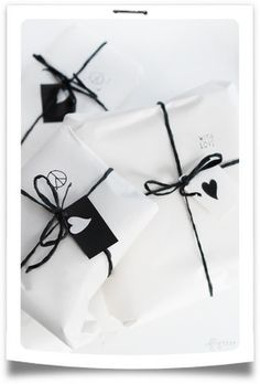 Visto en Pinterest... Envolver regalos! Packaging!