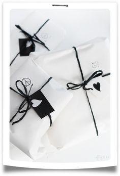Visto en Pinterest... Envolver regalos! Packaging!