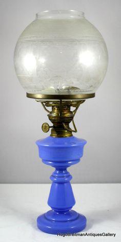 Opaline Oil Table Lamp