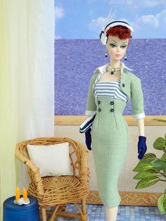 ~Beyond the Sea~ OOAK Summer Fashion for Silkstone/Vintage Barbie/Fashion Royalty~Joby