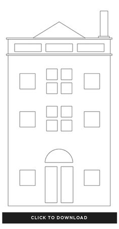 A beautiful mess christmas houses template