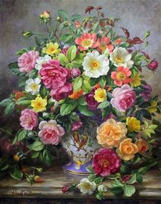Wild roses by Albert Williams