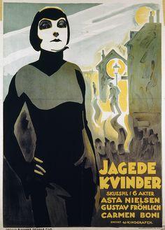 Danish film poster  Gehetzte Frauen (Richard Oswald, DE, 1927)