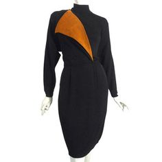 '80s St. John Suede Trim Dress, $159, now featured on Fab.