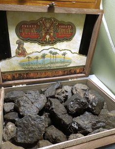 Fat Kilo of unclassified meteorites in Arturo Fuente Opus X cigar box. Premium cherry quality stones worthy of the discriminating collector of space rocks or cigars. Available at Galactic Stone and Ironworks.