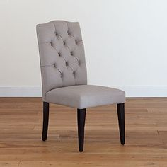 Grey Tufted Chair, if I get these I have to change my dining room rug and I'm not sure grey is the right color...