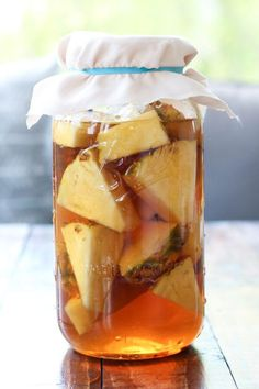Sweet, light, refreshing, juicy Pineapple Tepache recipe. Forget about having margaritas for Cinco de Mayo. Have this bubbly, probiotic drink instead.