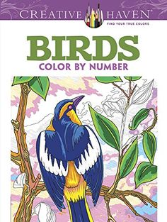 $9.99 Amazon Prime. Creative Haven Birds Color by Number Coloring Book (Adult Coloring) by George Toufexis