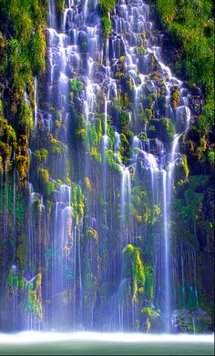 Mossbrae Falls located in Shasta Retreat - Dunsmuir, just south of Mt. Shasta on the Sacramento River