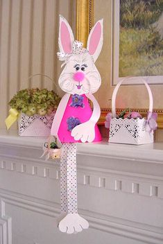 Make a paper Easter Bunny for decorating home :)