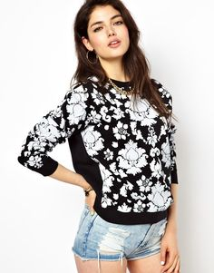 Illustrated People | Illustrated People Sweatshirt In Baroque Print at ASOS