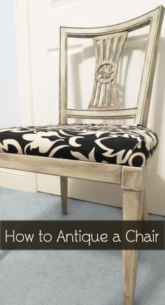 How to antique a chair