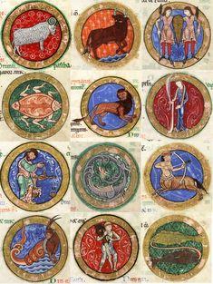 zodiac signs medieval art – Astrology and Art Medieval World, Medieval Art, Medieval Manuscript, Illuminated Manuscript, Astrology Zodiac, Zodiac Signs, 12 Zodiac, Horoscope Signs, Christian Mysticism