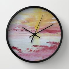 The sunset clock Design Lab, Clock, Sunset, Wall, Home Decor, Watch, Sunsets, Interior Design, Clocks