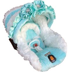 Tiffany & Baby car seat cover.