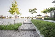 Luxury villa garden on the waterfront Landscape Architecture, Landscape Design, Garden Design, Rectangular Pool, Ornamental Grasses, Outdoor Entertaining, Backyard Landscaping, Garden Inspiration, Outdoor Living