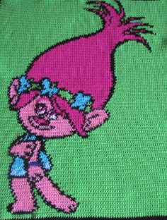 ONE OF A KIND PRINCESS POPPY BLANKET!!  Both the graph and the written pattern for a Trolls Princess Poppy Blanket. *100sts x 140sts **Recommended stitch is SC but can also be made with other stitches**  *This is NOT the finished product.  *The download will include the listed graph (on 3 pages), and the listed written pattern (on 7 pages) (2 downloads). *We can customize the pattern to your liking, just let us know via comment what colors/names.  *You are welcome to share/sell the ...
