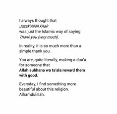 Jazak'Allah Khair