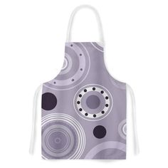 Kess InHouse Alison Coxon 'Purple Circles' Purple Digital Artistic Apron
