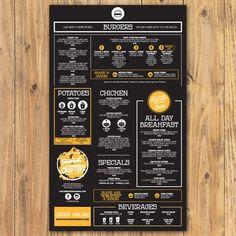 Designs   *Guaranteed Prize* Design a easy to read Menu for a Burger Shop   Menu…