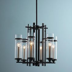Bedroom light? Would need to confirm size. Clearly Modern Glass Tubes Mini Chandelier