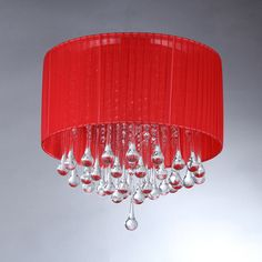 Warehouse of Tiffany Red Rum Crystal Chandelier