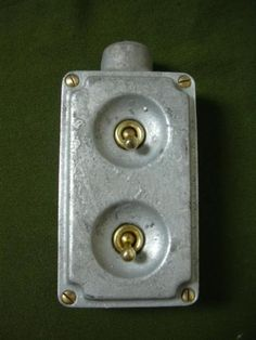 Vintage-industrial-light-switch-factory-antique-cast-iron-salvaged-art-deco