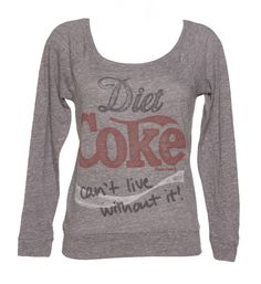 Ladies Grey Marl Diet #Coke #Pullover from Junk Food xoxo not anymore.....!
