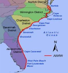 ICW Free Dockage is a guide listing for complementary & almost free offerings from towns and communities along and near the Atlantic IntraCoastal Waterway.