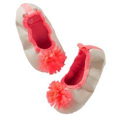OshKosh Neon PomPom Crib Shoes
