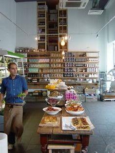 The Design Communications Agency London Cafe, North London, West London, Deco Restaurant, Restaurant Design, Primrose Hill London, Cafe Counter, Bakery Interior, Fruit Shop