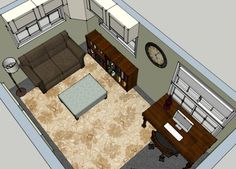 A great way to utilize an unoccupied guest room is to add a home office function within the same space! In this example, a sleeper sofa was the perfect option due to limited square footage. Guest Room Office, Home Office, Office Spaces, Guest Rooms, Interior Design Help, Sleeper Sofa, Homemaking, Service Design, My Design